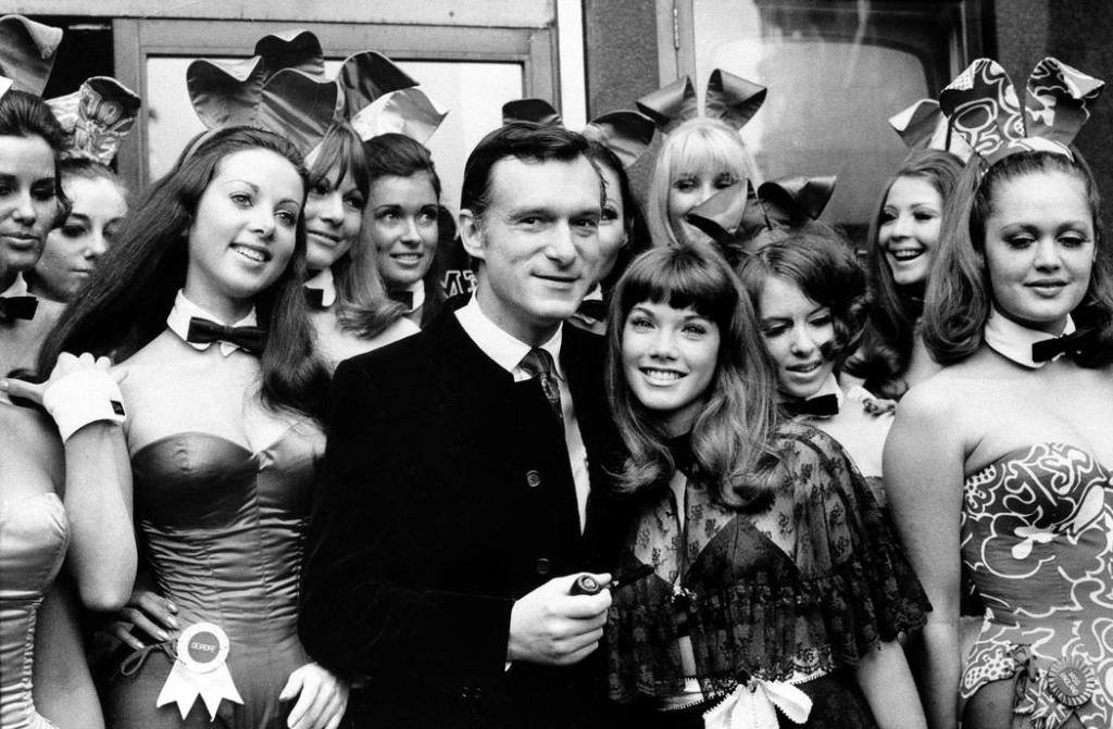Hugh with the bunnies